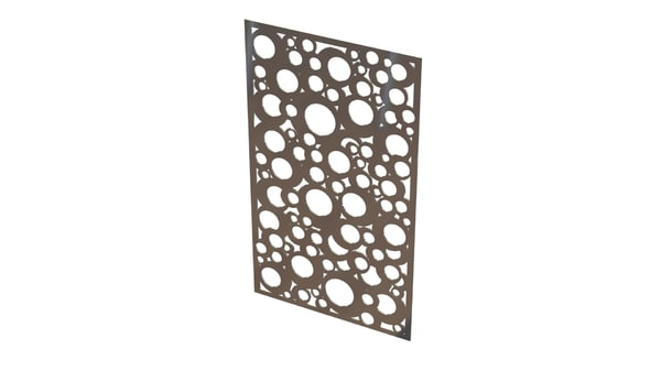 wall picture metal 3d obj