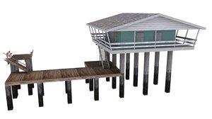 house stilts 3d model