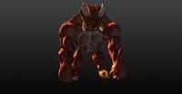demon monster 3d obj