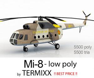 3d helicopter mi-8 etiophia air force model