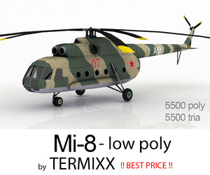 3d helicopter mi-8