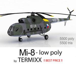 helicopter mi-8 czech 3d model