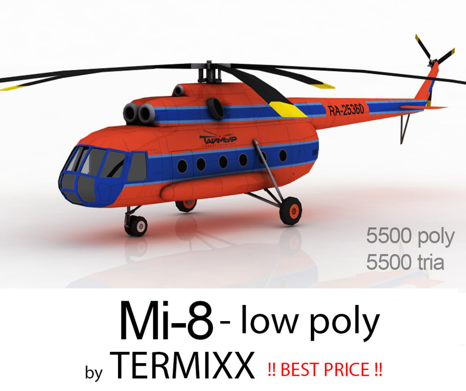 3d model helicopter mi-8