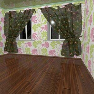 room wallpapers ceilings 3d max