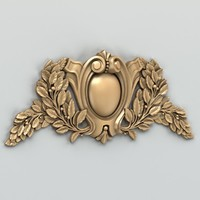 3d model decorative cartouche