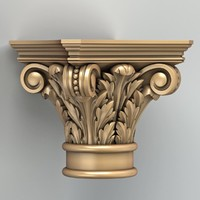 3d model carved column capital