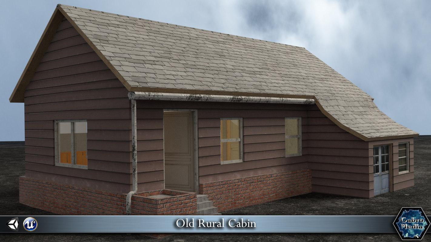 old cabin house obj