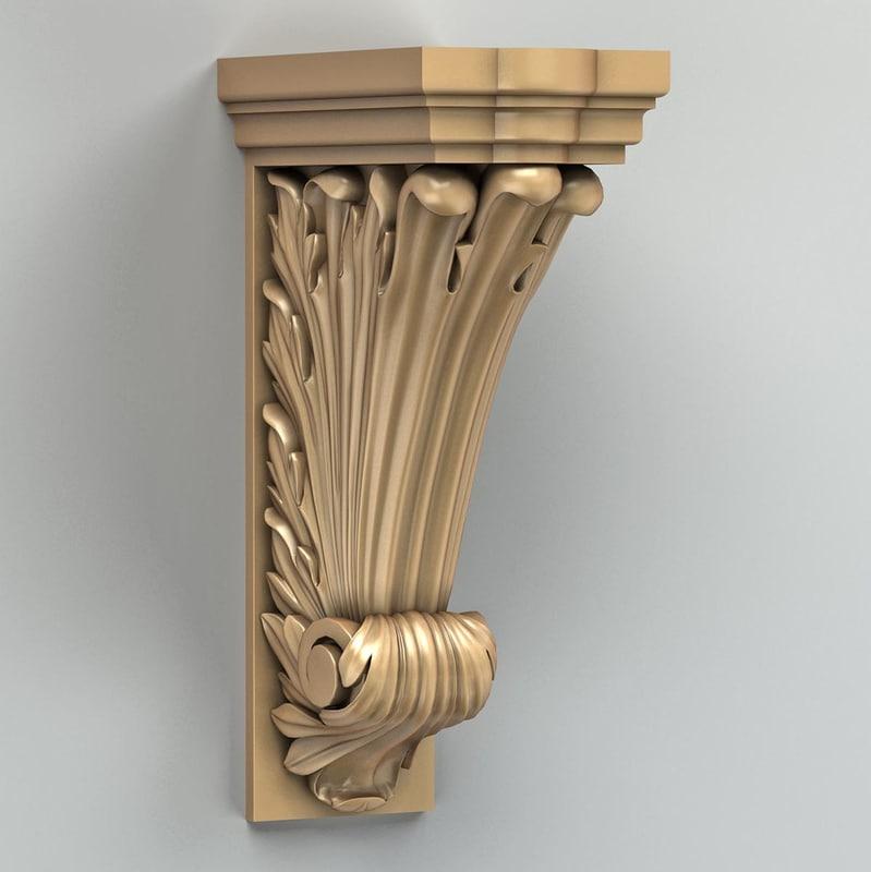 3d pilaster cnc intagli3d model