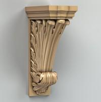 3d model pilaster cnc intagli3d