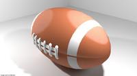 3d rugby ball sport