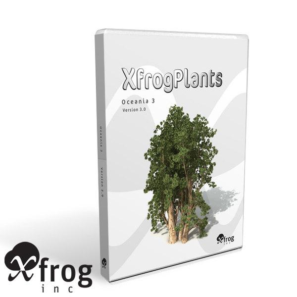 3d model 3 oceania trees xfrogplants