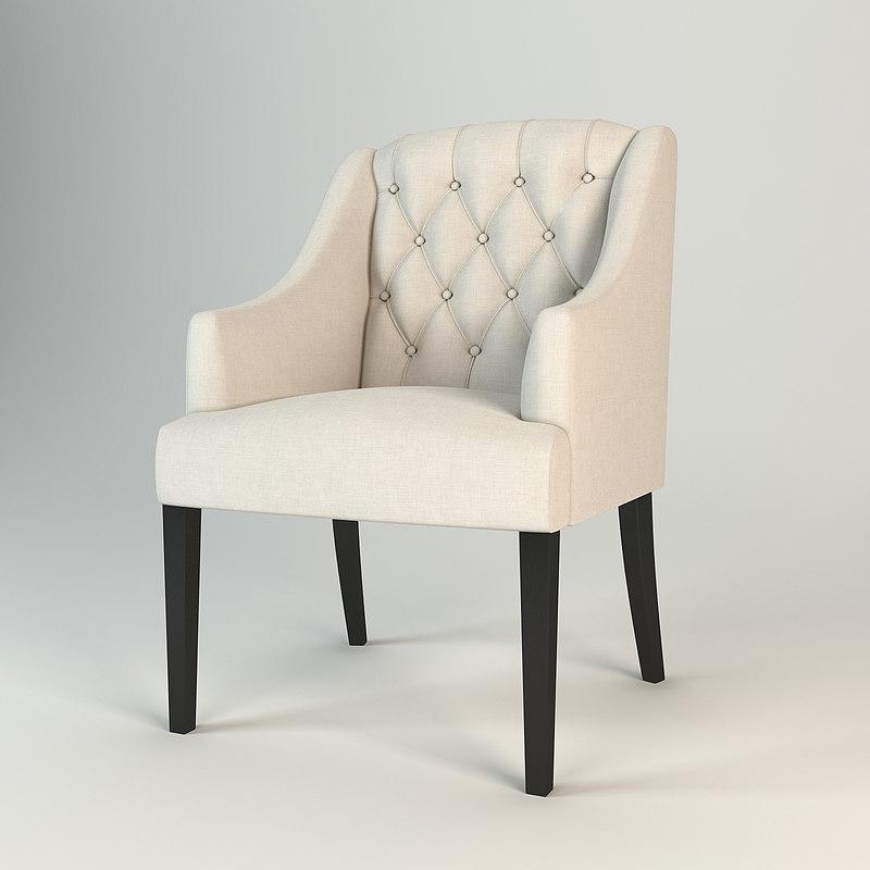3d eichholtz chair lancaster arm model