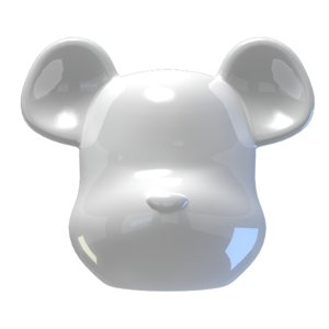 bearbrick brick bear 3d max