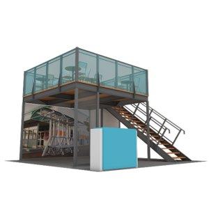 3d model structure maxima double deck