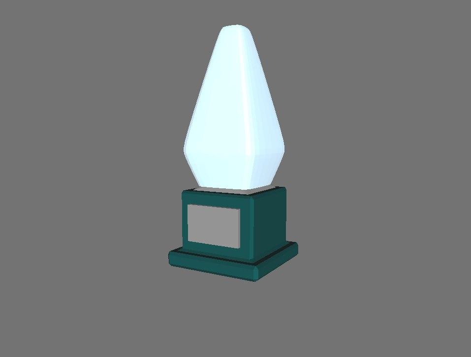 3d 3ds basic crystal trophy