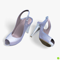 obj silver shoes heels