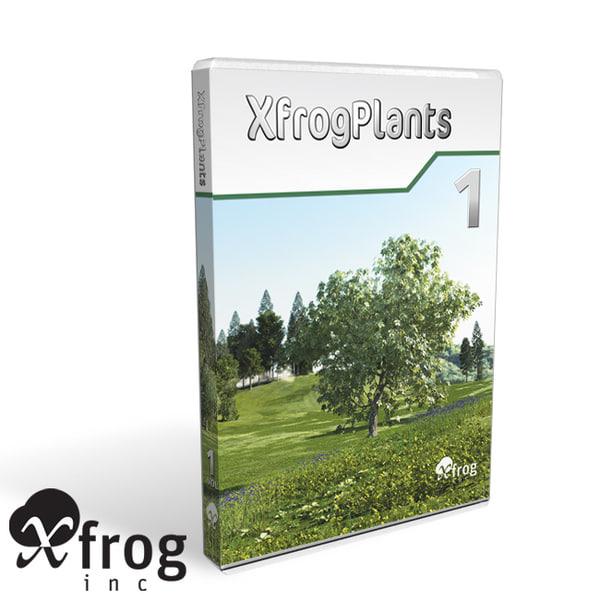 xfrogplants 1 plant flowers 3ds