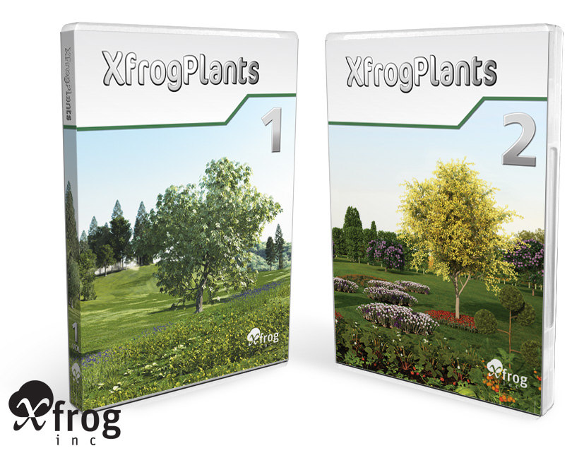 xfrogplants plant flowers 3d max