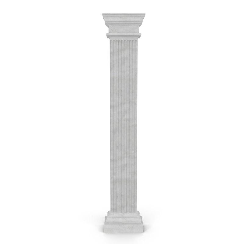 3d 3ds pilaster doric greco roman