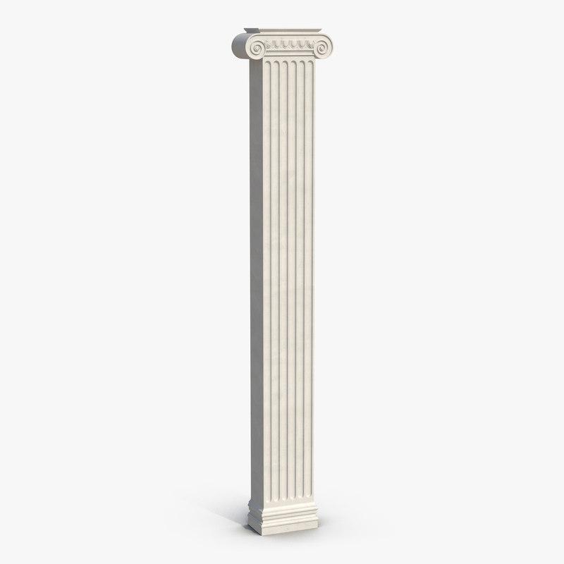 pilaster ionic greco roman 3d model