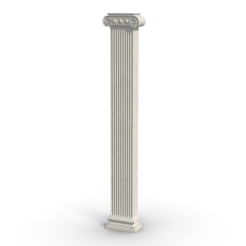 pilaster ionic greco roman 3d 3ds