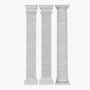 3ds pilasters doric greco roman