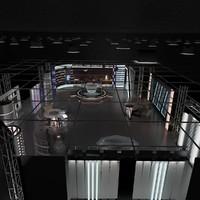 virtual news set 006 3d 3ds