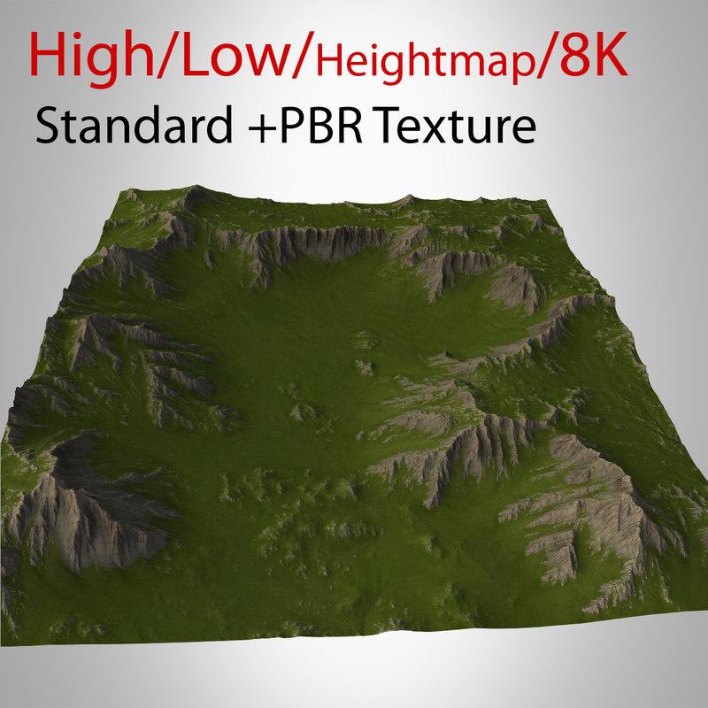 3d model mountain landscape