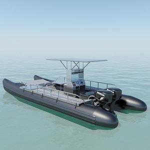 3d pontoon boat
