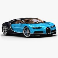 3d 2017 bugatti chiron model