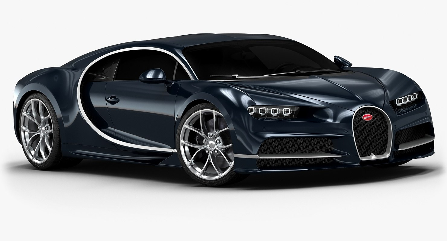 3d 2017 bugatti chiron interior model