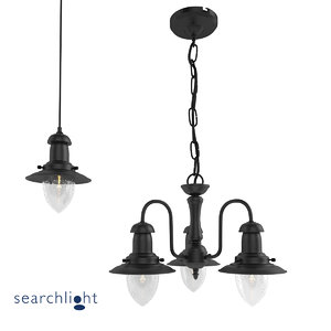 3d black lamp searchlight fisherman