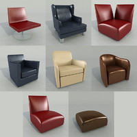 3d model of arm chair cassina