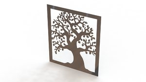 3d obj wall picture metal
