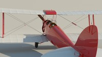 3d model haviland tiger moth