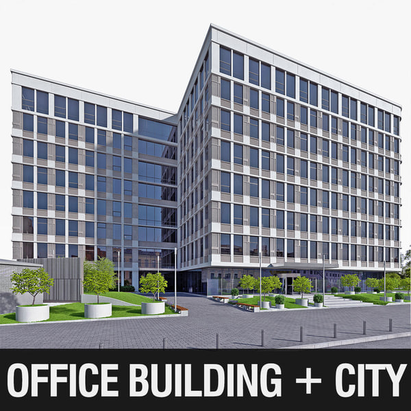 business building office 3d max