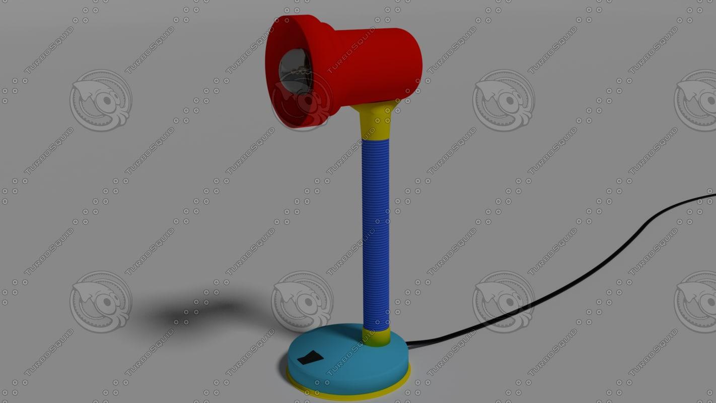3d colorfull desk lamp light model