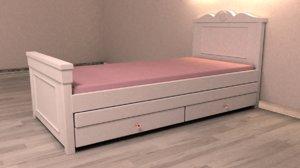 s bed 3d model