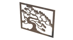 3d wall picture metal model