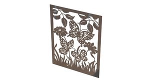 3d model wall picture metal