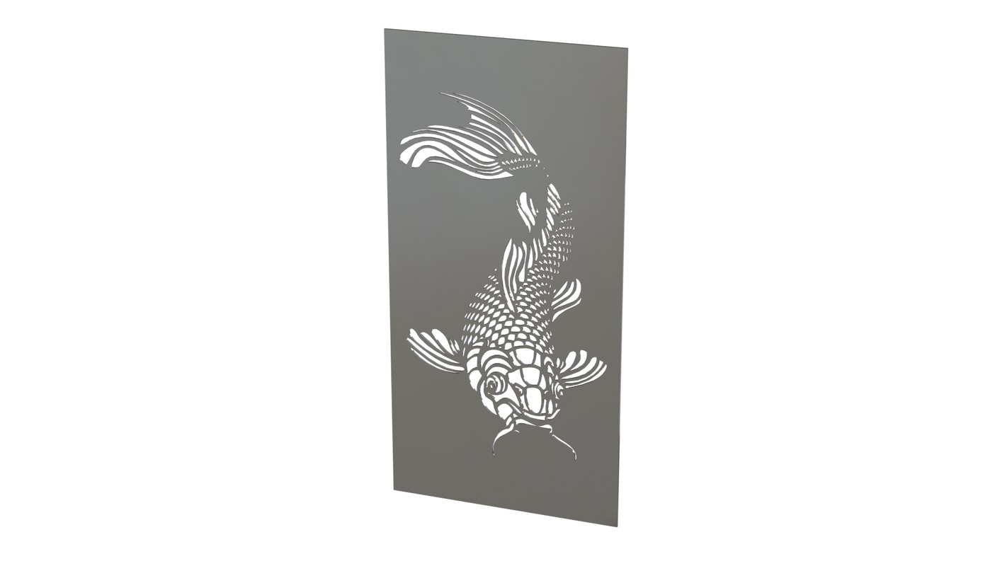 free wall picture metal 3d model