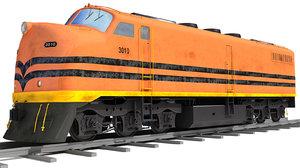 3d model train railway
