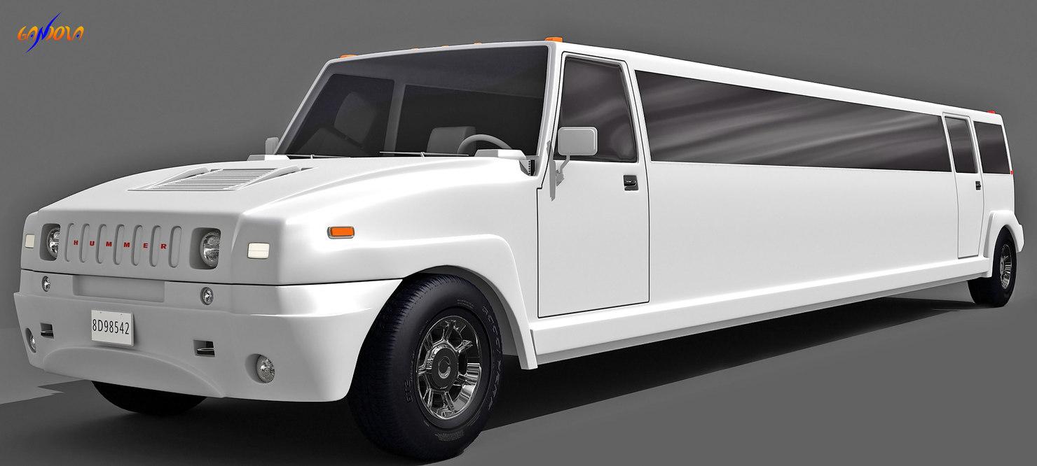 3d hammer limousine model