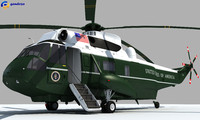 3d model of presidential aircraft marine helicopter