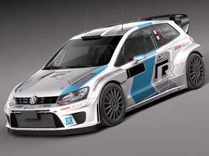 volkswagen polo rally car 3d 3ds