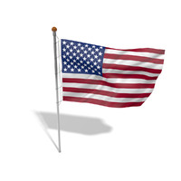 Flag USA animated