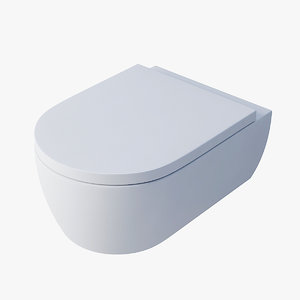 3d model toilet villeroy boch avento