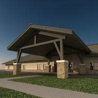 daycare storage building 3d model