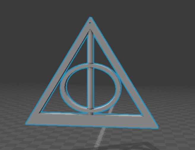 3d model hp deathly hallows pendant