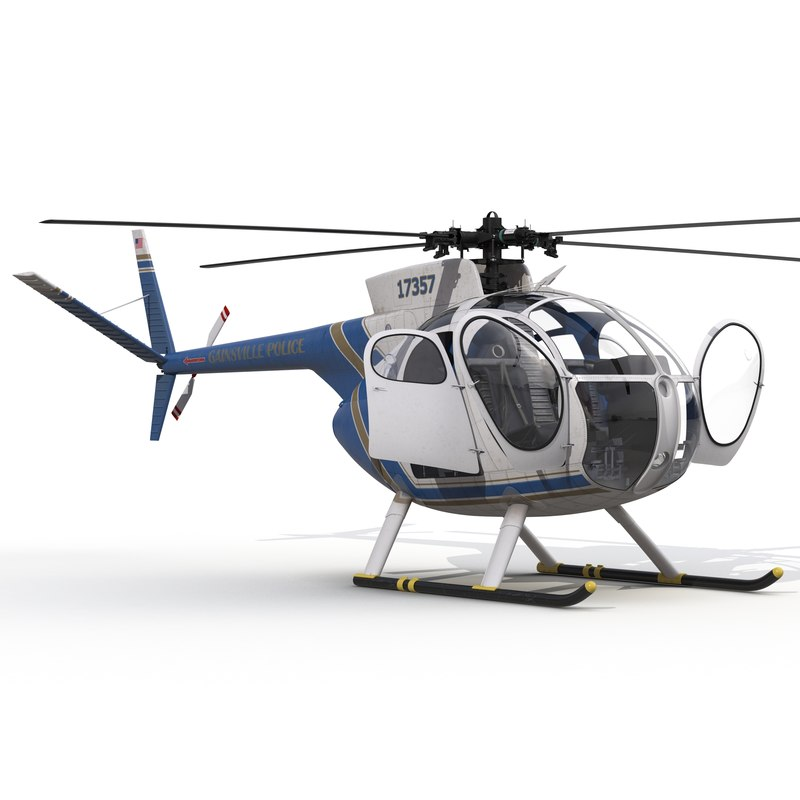 light helicopter hughes oh 3d max